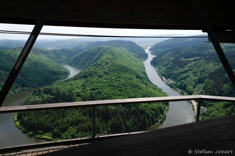 200 m lager stroomt de Saar.