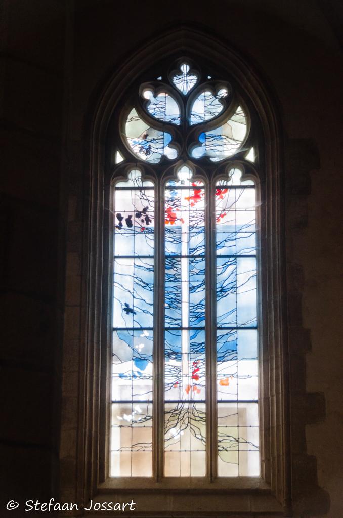 Detail van de kerk van Saint-Jean-du-Doigt.