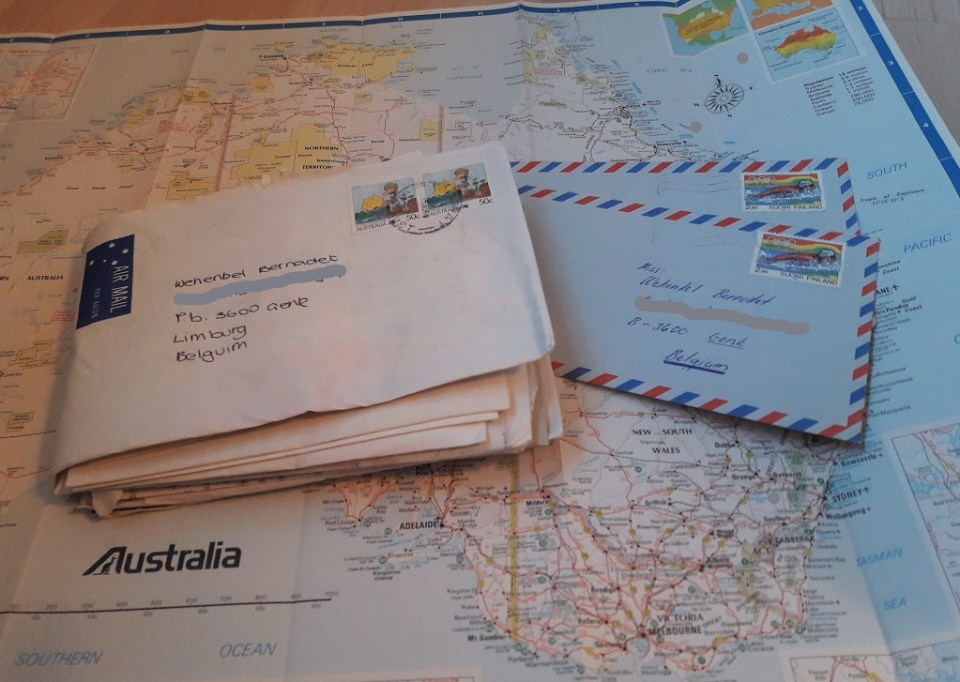 Overzeese post, uit Australië.