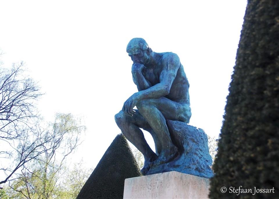 De Denker van Rodin in Parijs