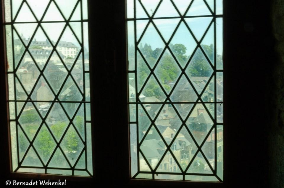 Zicht vanuit kasteel van Fougères.