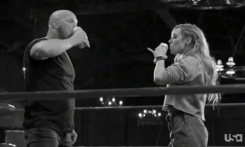 Becky Lynch attacks Stone cold