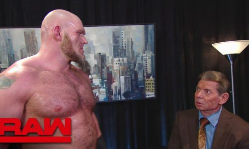 Lars SUllivan y Vince McMahon