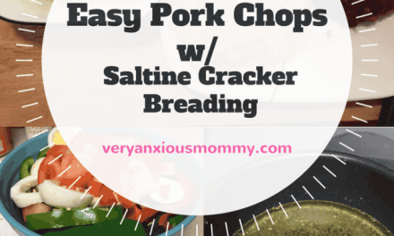 "<p style=""text-align: center;""><span style=""font-family: 'comic sans ms', sans-serif; color: #ff5e78;""><strong>What's for Dinner? Easy Pork Chops with Saltine Cracker Breading</strong></span></p>"