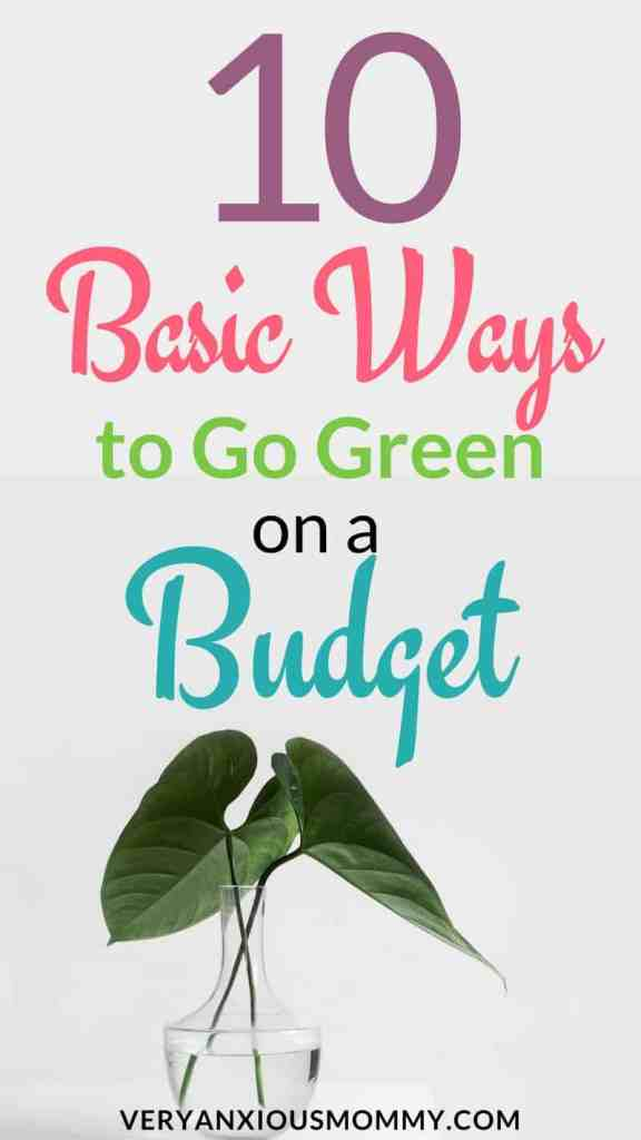 Go Green ideas| go green and natural| Go green at home| Go green earth day| save money go green| Want to Go Green this Spring? Here are my 10 frugal tips. go green on a budget|