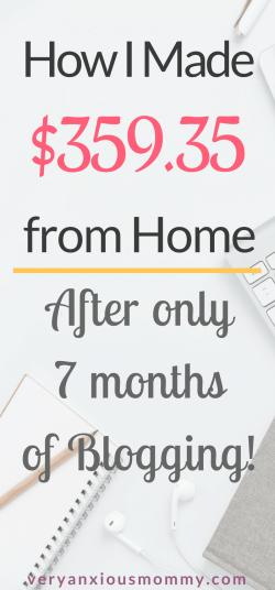 earn money blogging, make extra money, make income, make money from home, make money online, start a blog, earn money blog, mom blog, blog income,