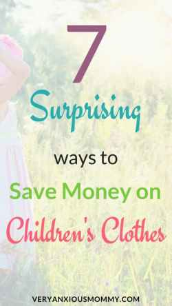 7 surprising ways to save money on children's clothes| Save money on kids clothes| Save money on baby clothes| buying baby clothes on a budget.
