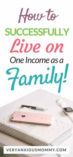 how to live on one income as a family of four