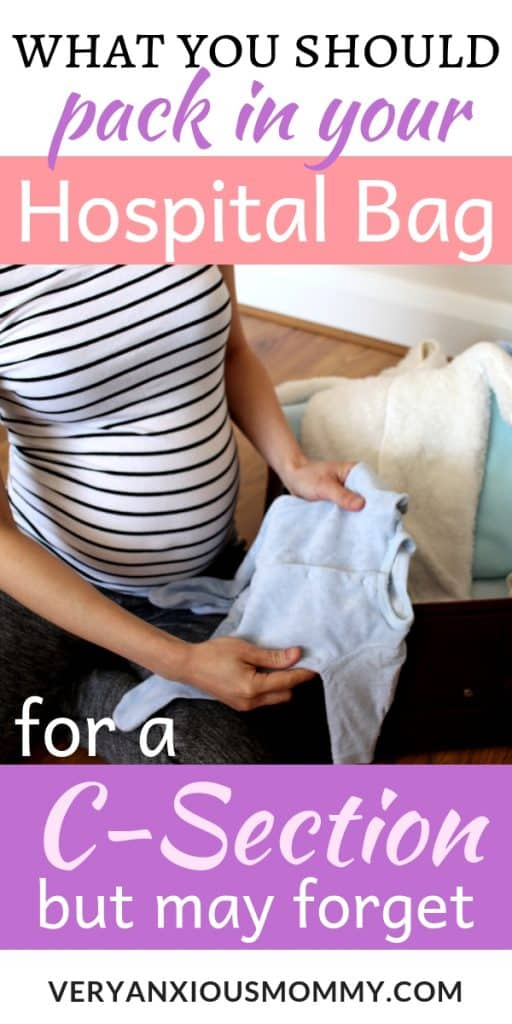 What to Pack in your Hospital Bag for a C-Section Delivery ...