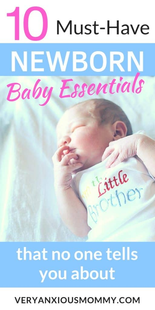 10 Crucial Newborn Essentials that No One Talks About. Newborn essentials for the first few months. My must-have baby gear checklist for surviving newborn stage with your baby. newborn gear, newborn baby essentials, newborn baby must haves, must haves for newbron