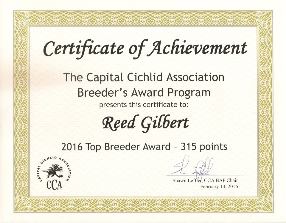 Top Breed Award - 2016