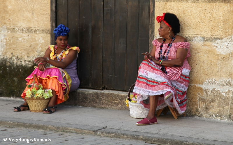 Cuban women chatting on the streets of Havana - People we meet travelling