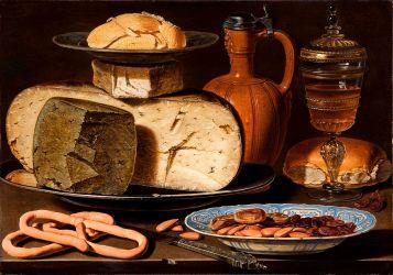 Queso, almendras y pretzels. Mauritshuis (La Haya).