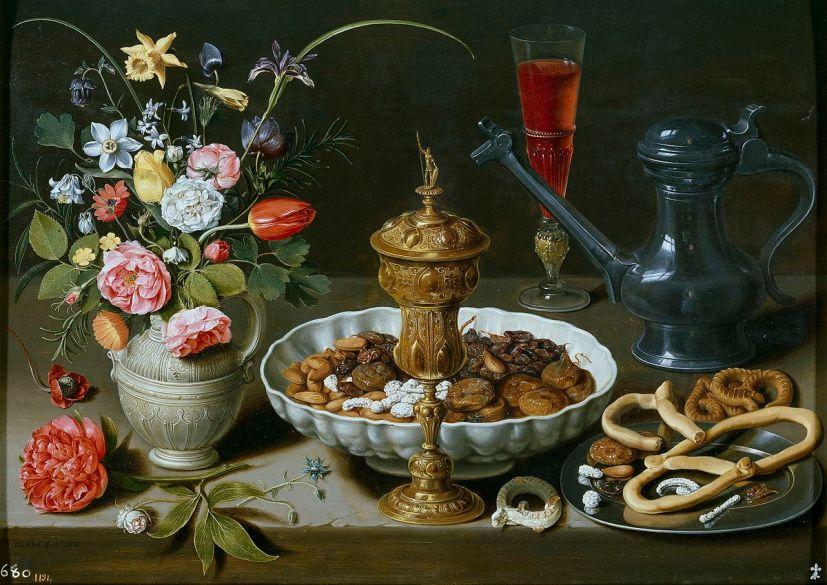 Nueces, dulces y flores. Museo del Prado.