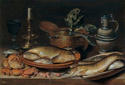 Clara Peeters - pescado y candelabro