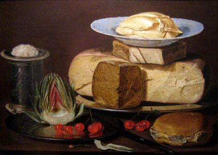 Queso, alcachofas y cerezas. Los Angeles County Museum of Art.