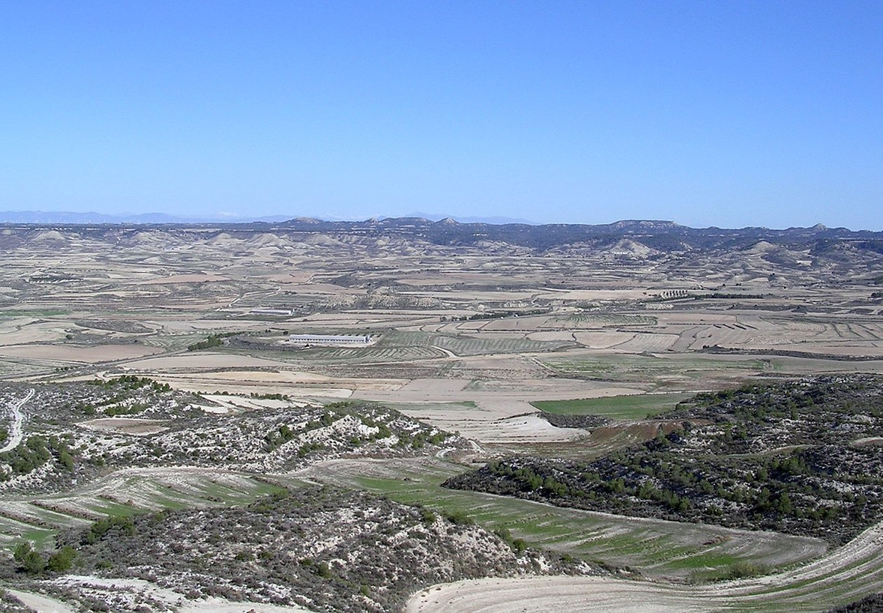 Desertizacion Vista de Los Monegros (Leciñena)