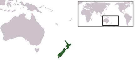 Ubicación Nueva Zelanda.