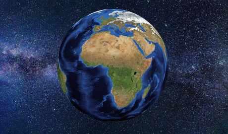 África en el planeta visto desde el espacio