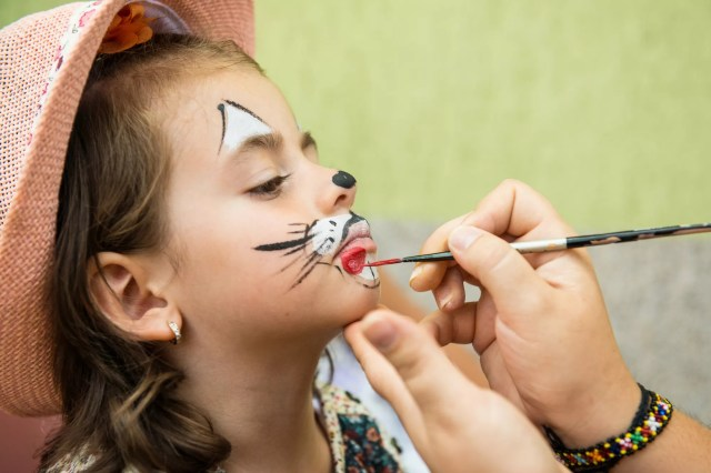 Face painting at Kids party