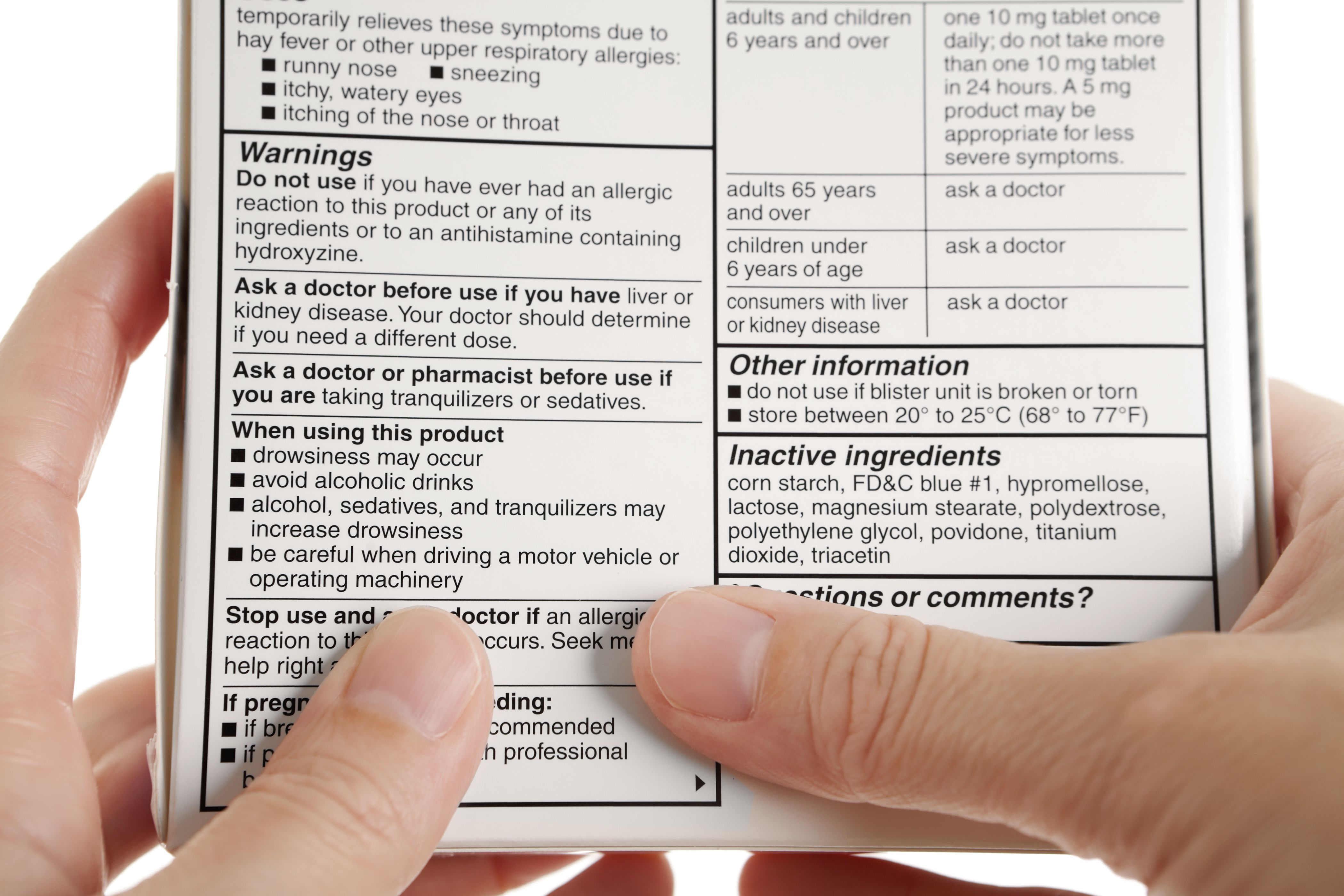 Allegra Over The Counter Drug Information