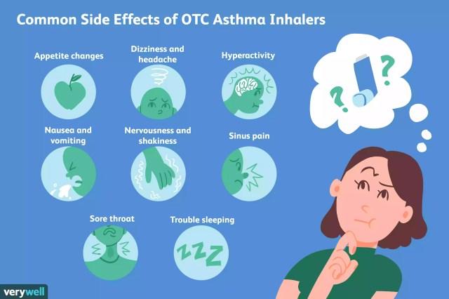 otc asthma inhaler side effects