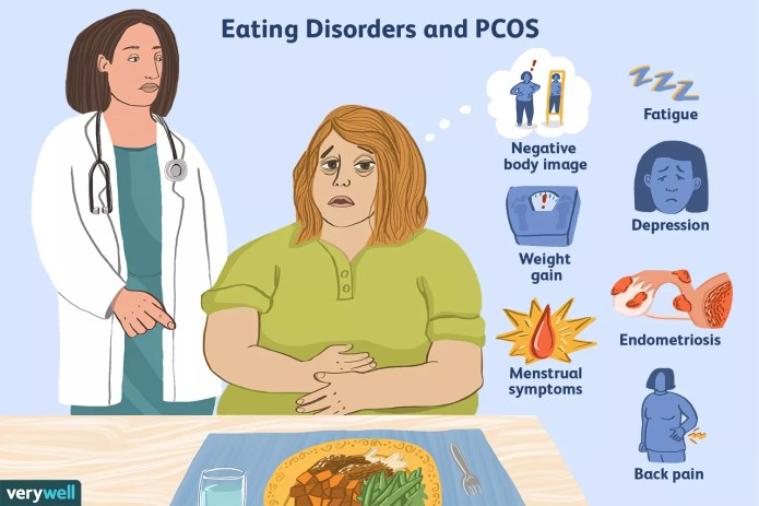 Woman struggling with PCOS and an eating disorder