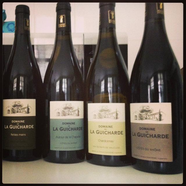 Gamme vins domaine de La Guicharde