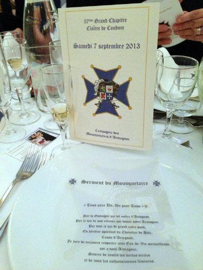 Serment des mousquetaires - 57e-Grand-Chapitre-de-la-Compagnie-des-Mousquetaires-Armagnac