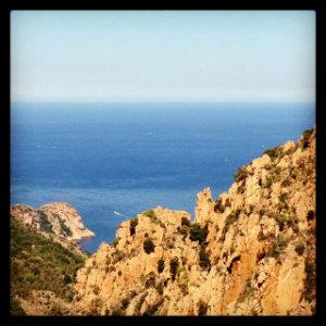 Vue sur la mer depuis les calanques de Piana - Corse