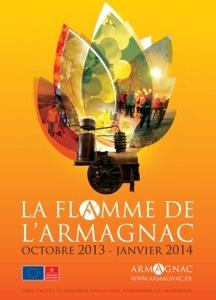Affiche Flamme de l'Armagnac octobre 2013-janvier 2014