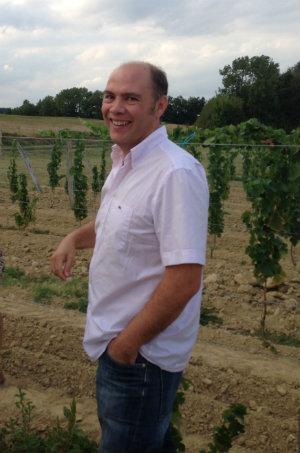 Jérôme Delord dans ses vignes