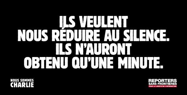 image reporters sans frontières pour les attentats de Charlie Hebdo