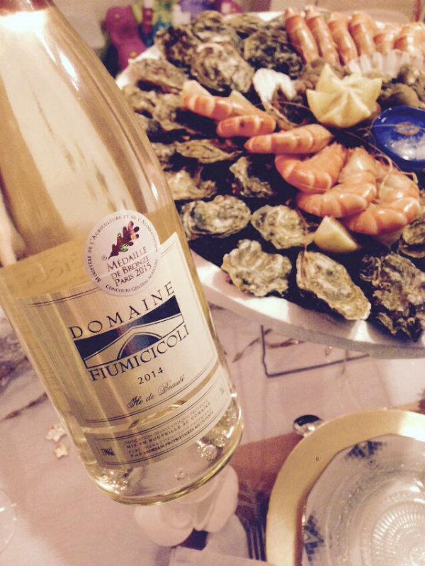 Blanc - domaine Fiumicicoli - Corse - fruits de mer et crustacés