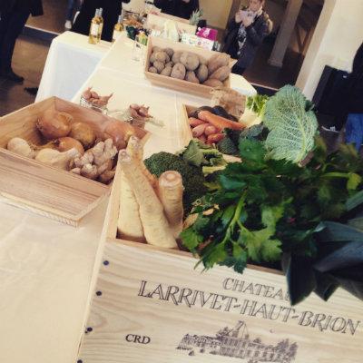 Ingrédients à disposition pour atelier accords mets vins Château Larrivet Haut Brion