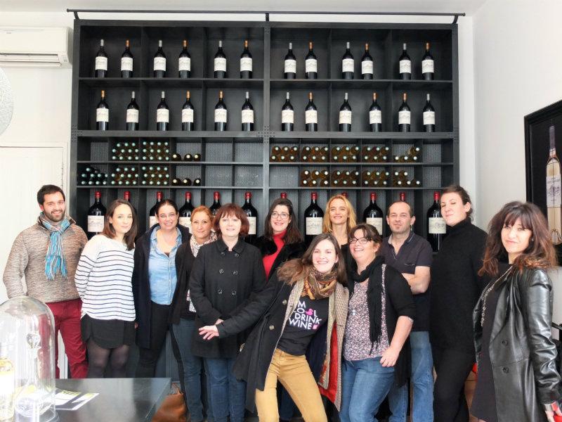 Les participants au voyage des sens - Equipe du Château Larrivet Haut Brion - Blogueurs vin et cuisine - Agence Kingcom