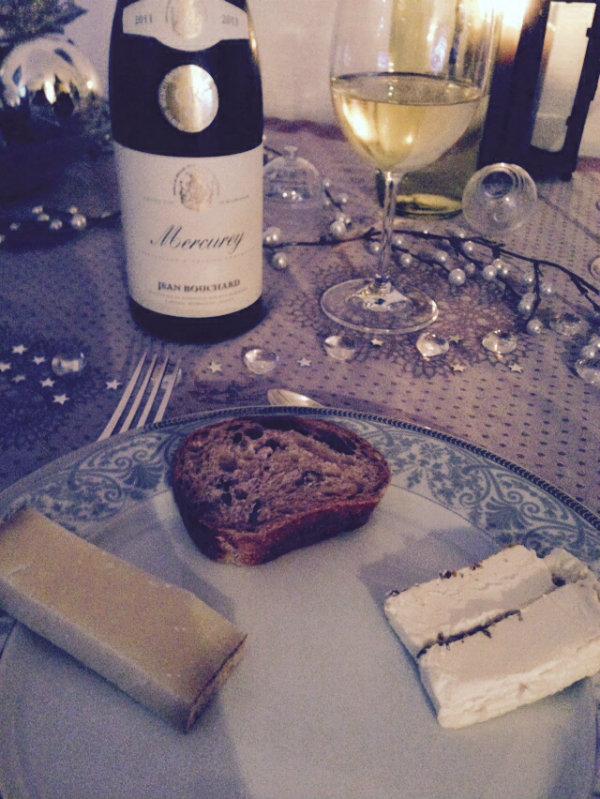 Mercurey blanc - Jean Bouchard - Bourgogne - comté et brillat savarin truffé