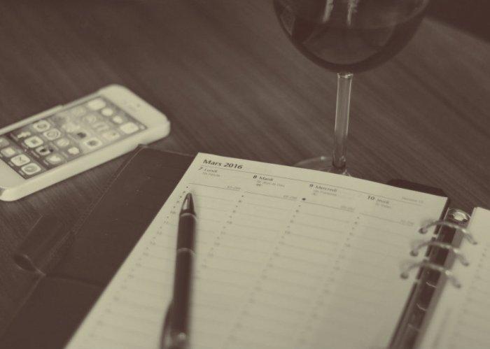 Illustration noir et blanc - agenda du vin mars 2016 à Toulouse