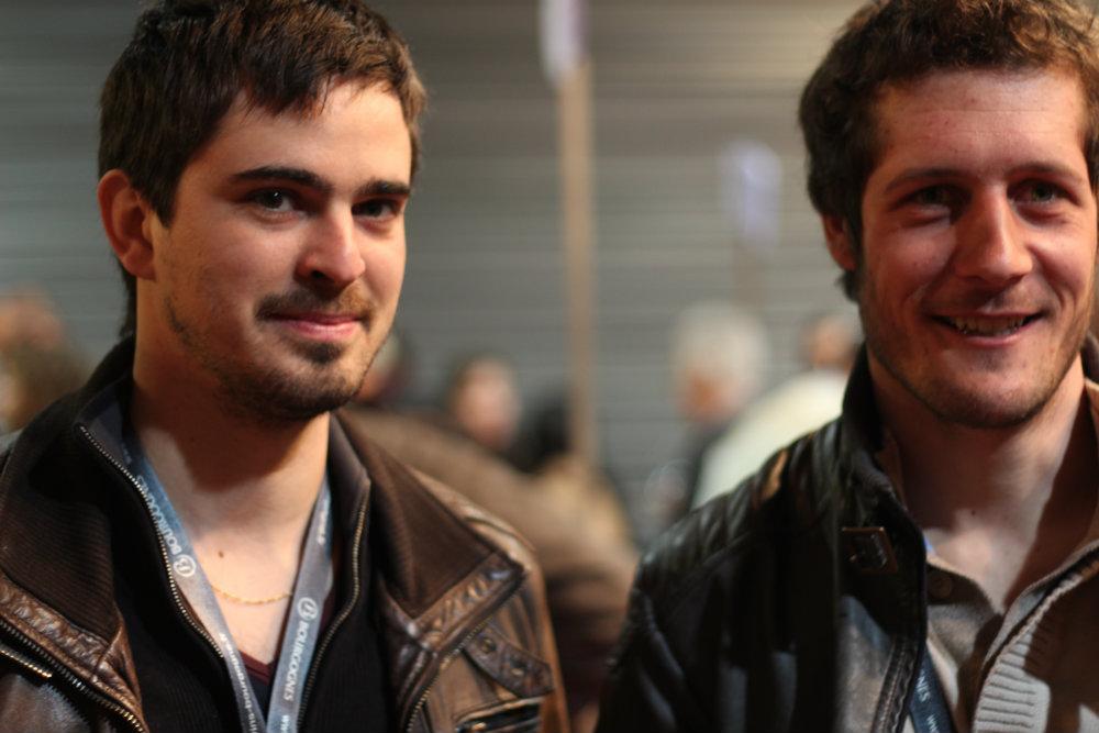 Florian Regnard et Florian Regnaudot - président et vice-président de l'ODG de l'appellation Maranges - Grands Jours de Bourgogne 2016
