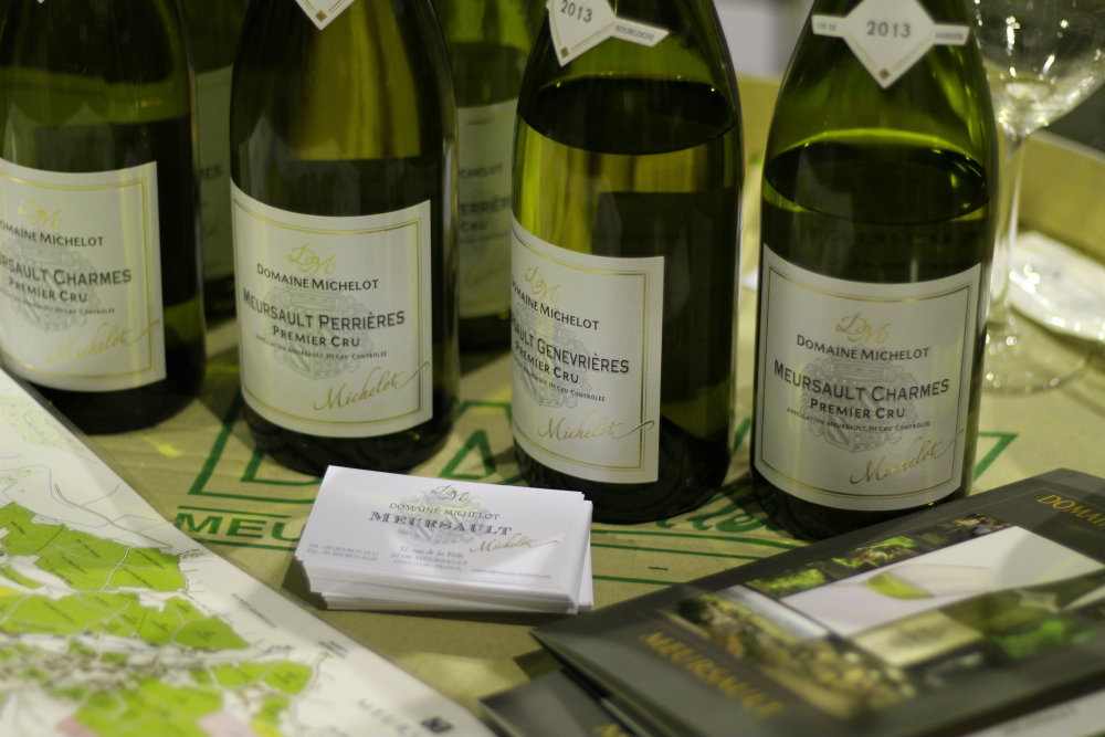 Vins du domaine Michelot - Meursault - Grands Jours de Bourgogne 2016