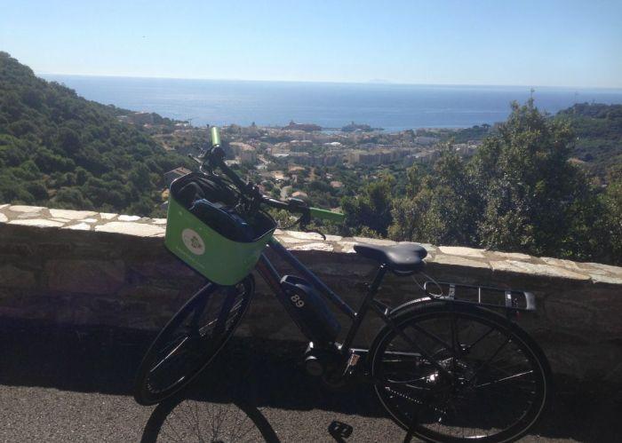 Balade en velo electrique APPeBIKE au dessus de Bastia