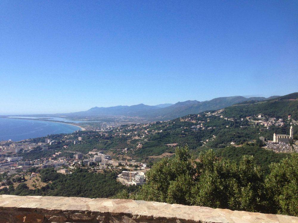 Vue sur la plaine de Bastia