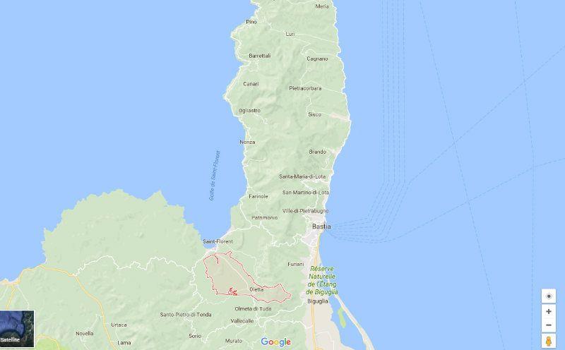 Oletta sur Google Map