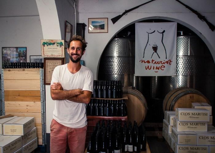 Portrait du vigneron corse Mathieu Marfisi