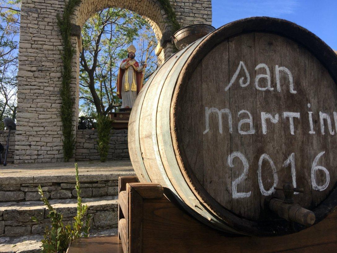 San Martinu et tonneau