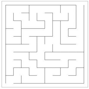 Maze generated using the recursive backtracker algorithm