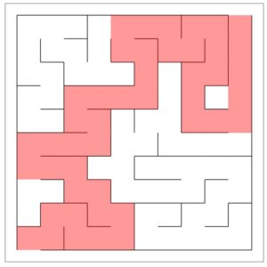 The maze solution