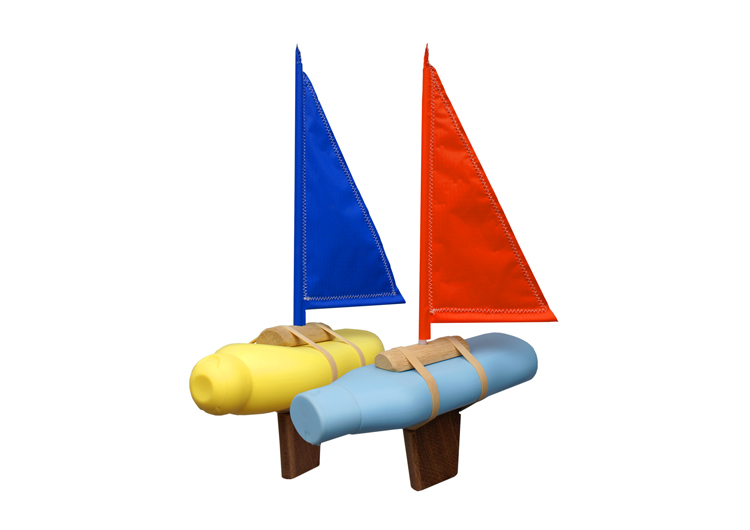 Bottle Boat - Floris Hovers Blue & Red