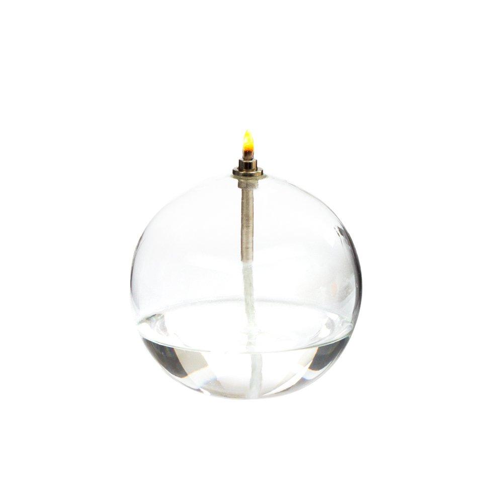 lampe huile ronde verre