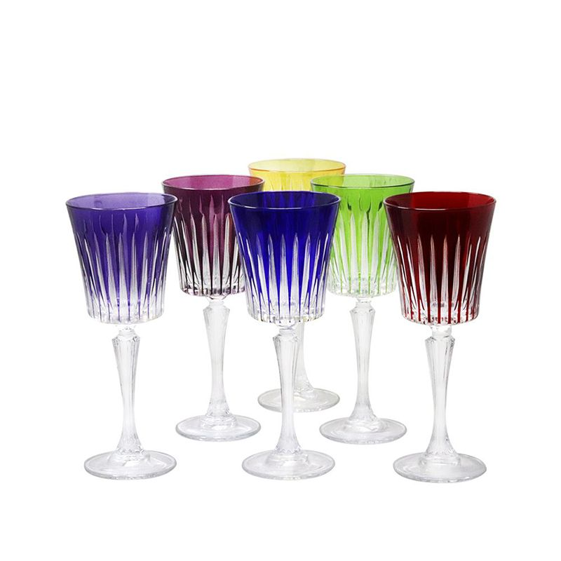 verres vin rouge cristal couleur timeless vessiere cristaux